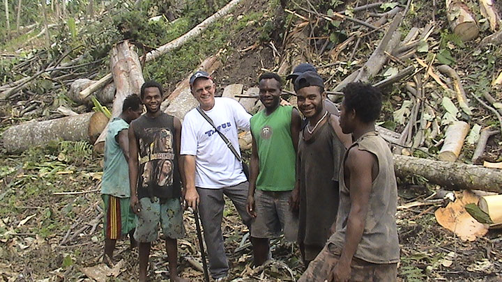 One of the first Australians to introduce SpikeMaster 1000's Wombat Radio-Remote Logging Winches in PNG. New Britannia Kokopo province - 2008.